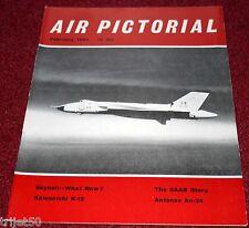 Air Pictorial 1963 February Saab,Kawashini ,Antonov An-24,RAF 12 Sqn,Mosquito