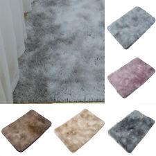 Area Rugs Fluffy Bath Floor Mat Tie Dyed Rug For Home Bedroom Rectangle Non Slip