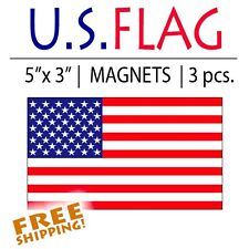 "3pcs American Flag Magnet vehicle 5"" military tactical Usa Us Patriotic"