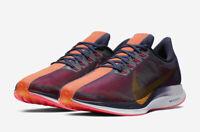 Nike Zoom Pegasus 35 Turbo Blackened Blue Orange Peel AJ4114-486 Mens Size 11