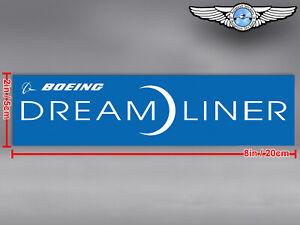BOEING 787 DREAMLINER B787 RECTANGULAR LOGO DECAL / STICKER