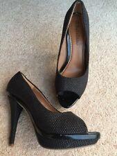 Miss KG Geiger stile vintage brevetto finto rettile grigia tacco alto scarpe 4 37