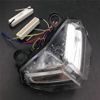 Clear LED Tail Brake Turn Signal Light For Ducati 848 08-14 1098/1198 2007-2013