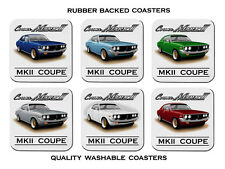 73'  75'   TOYOTA  CORONA MKII  COUPE   MK2   SET OF  6  RUBBER DRINK  COASTERS