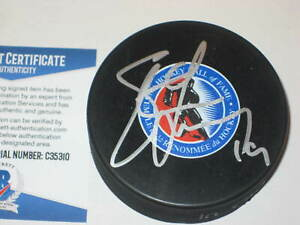 STEVE YZERMAN (Red Wings) Signed HALL OF FAME Puck w/ Beckett COA