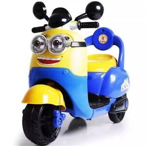 New Kids Motorbike Minion Style Motorcycle Toy Electric Bike 6V Battery