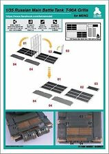 Tetra Model Works 1/35th Scale PE Engine Grills for MENG T-90A Item No. 35002