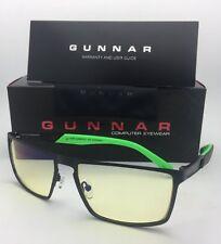 New GUNNAR Computer Glasses RAZER CERBERUS 59-17 Onyx Black Frame w/Amber Yellow