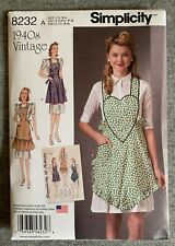 Misses Apron's Simplicity Fabric Material Sewing Pattern # 8232