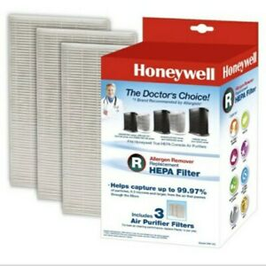 3/Pack Honeywell Allergen Remover Replacement HEPA Filters, HRF-R3 092926180034