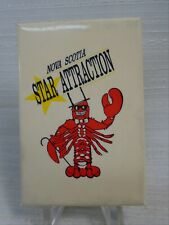 Nova Scotia Star Attraction Pinback Pin Lobster in Top Hat & Walking Stick