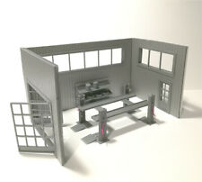Diorama Big Grey Garage Kit with a Car Lifter, 3 walls, Scale 1:43  NEW