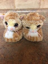 GIRL'S TY CAT PLUSH COZY COMFY SLIPPERS-SIZE: SMALL (10-11)