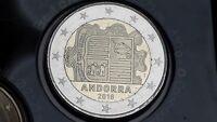 2 euro 2018 fdc UNC ANDORRA Andorre Andora андорра spedizione immediata On stock