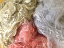 Suri Alpaca Fleece and Hand-dyed suri locks - spinning and felting