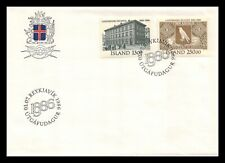 Iceland 1986 FDC, Centenary of the National Bank of Iceland. Lot # 2.