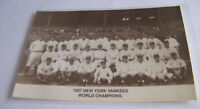 Vintage RPPC Real Photo Postcard Baseball 1927 New York Yankees Babe Ruth Champs