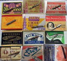A dozen vintage nibs e.g. Belgica/Flamand/Faber/Rikkers/Oriflamme/Waverley a.o.