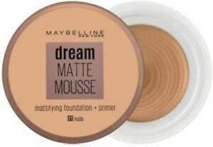 Maybelline Dream Matte Mousse Mattifying Foundation Primer Makeup Nude 21