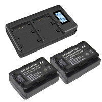 2 X NP-FZ100 Battery + LED Dual USB Charger for Sony a9, a7R III, a7 BC-QZ1