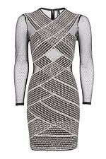 Topshop PETITE Long Sleeve Bandage bodycon Dress Size8/36 US 4 RRP £100