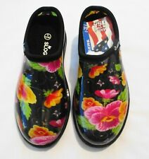 Sloggers Pansies Rain and Garden Clogs, Size 6 (NWT)