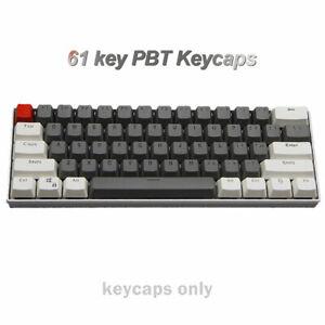 61 keys PBT Keycap Set Thick Key Caps for Cherry MX Mechanical Keyboard Backlit