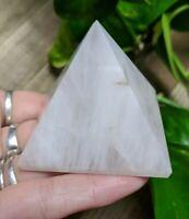 """2"""" WHITE QUARTZ Pyramid C5 Crystal Stone Reiki Charged 4.4oz"""