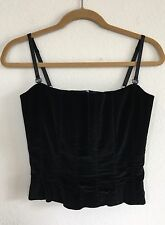 St. John Evening Black Velvet Cami Corset/Bustier Top 2/4