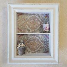 Shabby chic style in legno muro Display armadietto scaffali bianco grigio