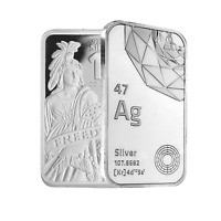 10 oz .999 AG Fine Silver Bar BU - Freedom Symbol Stamped - Sealed - IN STOCK!!!