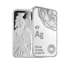 10 oz Dgse 0.999 Silver Bar - Freedom Symbol Stamped