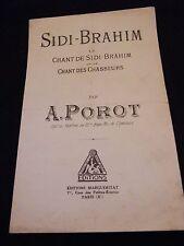 Partitur Sidi Brahim Chant des chasseurs Ein Porot Music -blatt