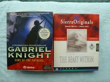 2 Big Box PC CD Rom Games Gabriel Knight Sins of the Fathers The Beast Within