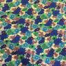 Turquoise Tropical MARGUERITE FLEURS, imprimé floral 100% COTON POPELINE tissu