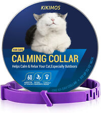 Kikimos Adjustable Calming Collar for Cats and Small Dogs, Reduces Pets Anxiety