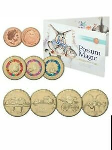 2017 POSSUM MAGIC 8 Coin Limited Edition RAM set in Folder NEW