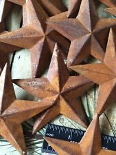 "10 Rusty Barn Stars 3.75 in 3 3/4"" Dimensional 2D w/ hole Craft Supply Country"