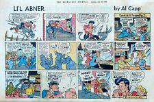 Li'l Abner by Frank Frazetta - large half-page color Sunday comic, July 10, 1960