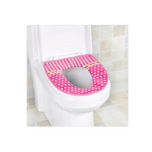 Dot Flannel Bathroom Toilet Seat Cover Mat Bath Soft Warmer Pad Cushion New
