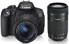 Canon EOS 700D Digital Camera - Black (Kit w/ EF-S 18-55mm IS and EF-S 55-250mm
