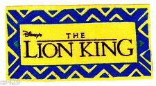 "5.5"" Disney lion king logo  fabric applique iron on character"