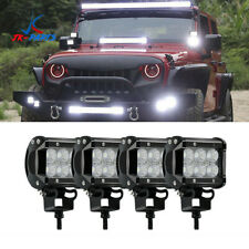 4pcs 4INCH 18W LED WORK LIGHT BAR DRIVING Flood BEAM SUV  ATV, SUV UTE CAR  Boat
