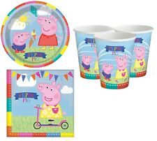 Girls Boys Toddlers Birthday 32pc Party Tableware Set Peppa Pig Plate Cup Napkin