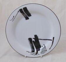 More details for bernardaud cera-e-noor flash black 6 x side / salad  / dessert plates19cm unused