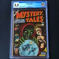Mystery Tales #14 (Atlas 1953) 💥 CGC 3.5 💥 Rare Bill Everett Cover! Horror PCH