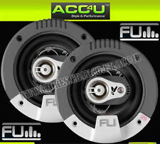 """FLI Integrator 4"""" inch 300w 3-Way Car Van Door Coaxial Speakers Set With Grills"""