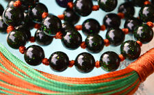 Energized Green Goldstone Sandstone Prayer Beads Hand Knotted Mala Bead Necklace