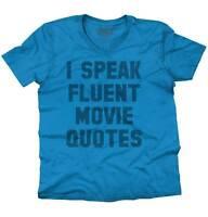I Speak Fluent Movie Quotes Sarcasm Funny V-Neck T Shirts Tees for Men Women