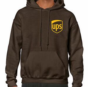 UPS Shirt Long Sleeve T-Shirt Postal Brown Hoodie Crewneck Hooded Sweatshirt